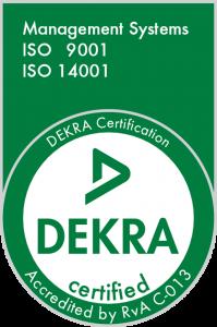 Logo ISO 9001 en ISO 14001.