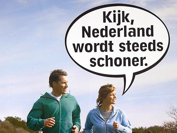 Medewerkers van WML Facilitair kwamen in actie tijdens de opschoonweek. (c) www.nederlandschoon.nl