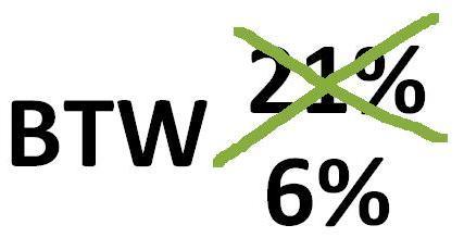 De BTW is tijdelijk verlaagd.