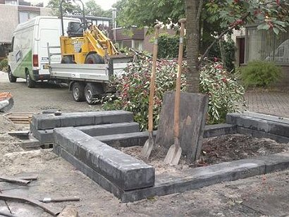 Onze hoveniers legden in Alkmaar een tuin aan.
