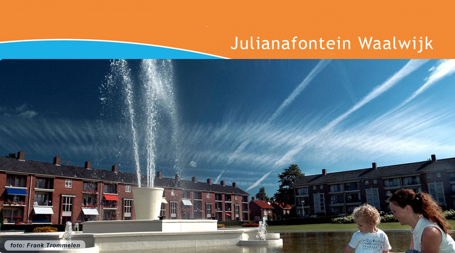 De Julianafontein spuit weer! Foto: Frank Trommelen.